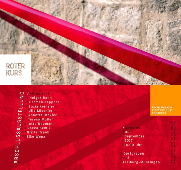 Abschlussausstellung Roter Kurs am Samstag, 30. September
